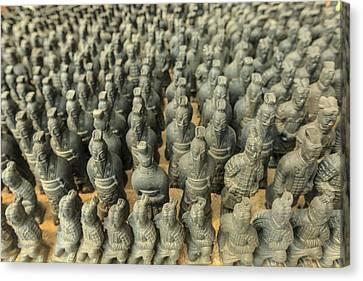 Miniature Warriors, Terra-cotta Canvas Print