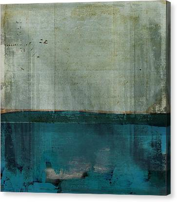 Minima - S02b Turquoise Canvas Print by Variance Collections