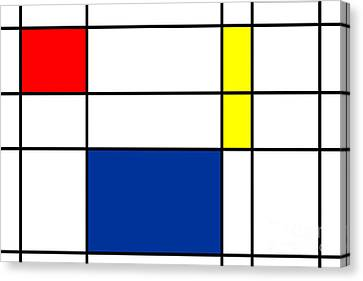 Minimalist Mondrian Canvas Print by Celestial Images
