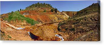 Mining Effects On Landscape At Rio Canvas Print