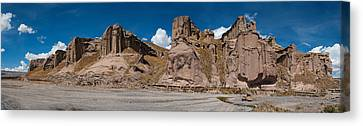Mining Outpost In The Highlands Close To Colca Canyon Canvas Print by Ulrich Schade