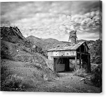 Mining Structures Darwin Hills Ca Canvas Print by Troy Montemayor