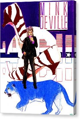 Mink Deville - Le Chat Bleu Canvas Print