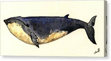 Minke Whale Canvas Print by Juan  Bosco