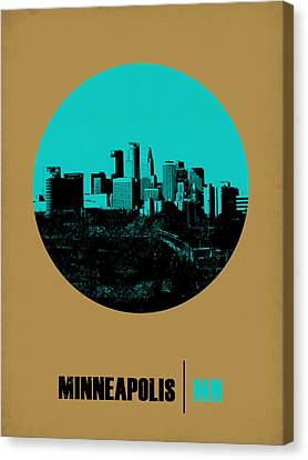 Minneapolis Circle Poster 1 Canvas Print by Naxart Studio