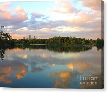 Minneapolis Lakes Canvas Print by Heidi Hermes