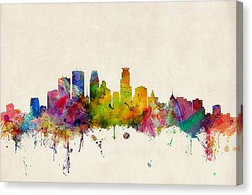 Minneapolis Minnesota Skyline Canvas Print