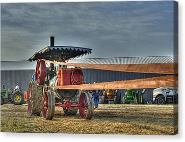 Minneapolis Return Flue Threshing Canvas Print