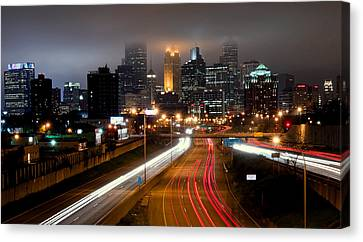 Canvas Print featuring the photograph Minneapolis Skyline Mn by RC Pics