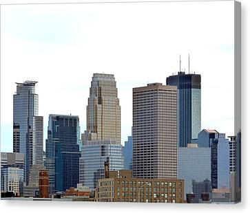 Canvas Print featuring the photograph Minneapolis by Will Borden