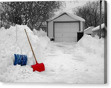 Plowing Canvas Print - Minneapolis Winter by Jim Hughes