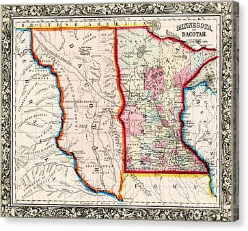 Minnesota And Dacotah  Canvas Print by Pg Reproductions