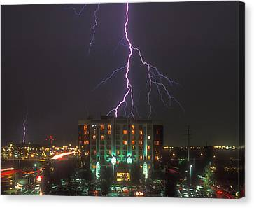 Minnesota Electrical Storm Canvas Print by Mike McGlothlen