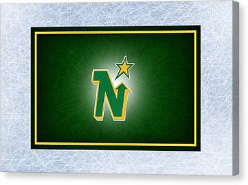 Minnesota North Stars Canvas Print by Joe Hamilton