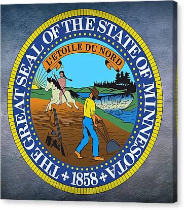 Minnesota State Seal Canvas Print