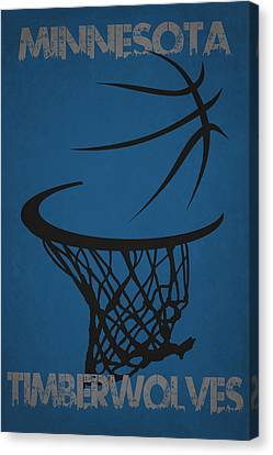 Minnesota Timberwolves Hoop Canvas Print