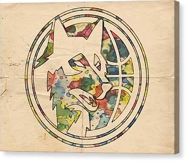 Minnesota Timberwolves Logo Art Canvas Print