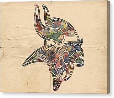 Minnesota Vikings Poster Vintage Canvas Print by Florian Rodarte