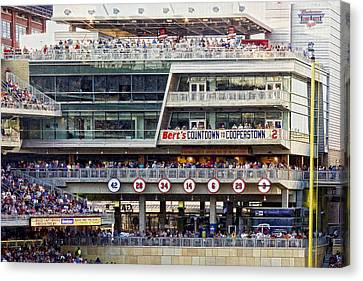 Minnesota's Bert's Countdown  To Cooperstown Canvas Print by Susan Stone