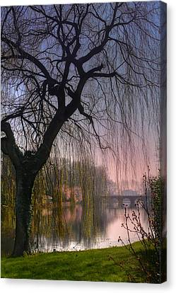 Minnewater Lake Bruges Canvas Print by Carol Japp