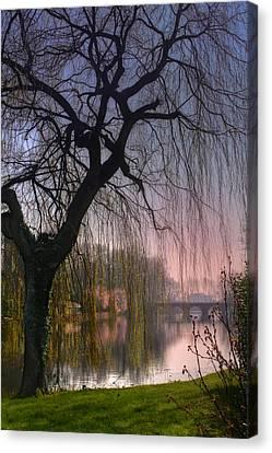 Medieval Canvas Print - Minnewater Lake Bruges by Carol Japp