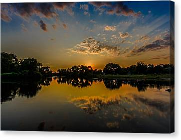 Minooka Sunset Canvas Print by Randy Scherkenbach