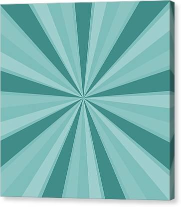 Mint Teal Sun Burst Canvas Print by P S