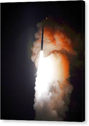 Minuteman IIi Missile Test Canvas Print by Science Source