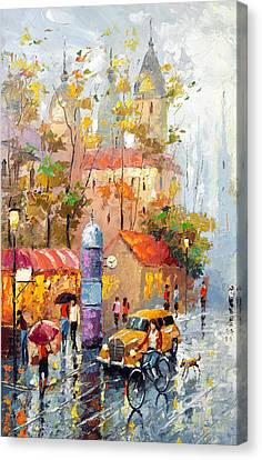 Minutes Of Waiting Canvas Print by Dmitry Spiros