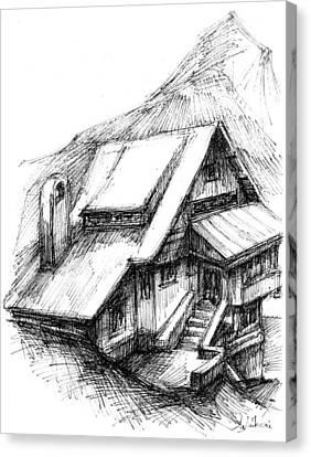 Miorita Chalet - Romania Canvas Print