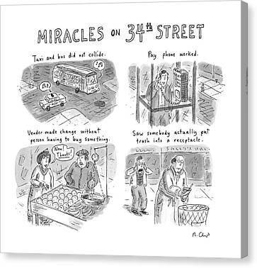 Miracles On 34th Street Canvas Print by Roz Chast