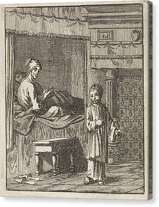 Miraculous Healing Of Jeske Klaes, Jan Luyken Canvas Print by Jan Luyken And Wed. Pieter Arentsz (ii) And Cornelis Van Der Sys