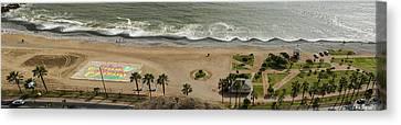 Miraflores Beach Panorama Canvas Print by Allen Sheffield