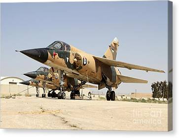 Mirage F.1 Fighter Planes Of The Royal Canvas Print by Ofer Zidon
