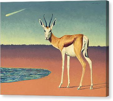 Mirage Canvas Print by James W Johnson