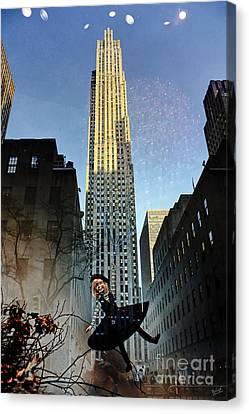 Mirage Of 30 Rockefeller Center Canvas Print by Nishanth Gopinathan