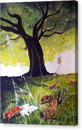 Mirage Of Lives  Canvas Print by Lazaro Hurtado