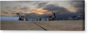 Canvas Print featuring the photograph Miramar Tarmac by Ed Cilley