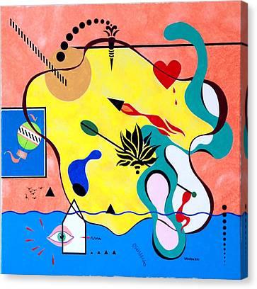 Miro Miro On The Wall Canvas Print by Thomas Gronowski
