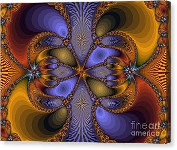 Mirror Butterfly Canvas Print by Darleen Stry
