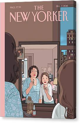 Mirror Canvas Print by Chris Ware