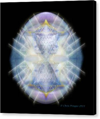 Mirror Healing The Polarities Within Canvas Print by Christopher Pringer