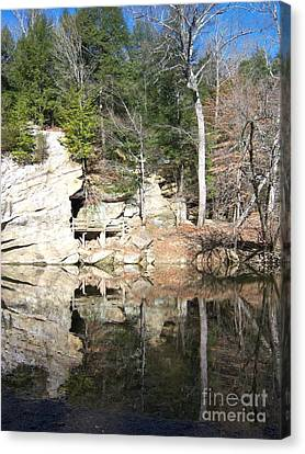 Sugar Creek Mirror Canvas Print by Pamela Clements