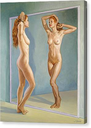 Figures Canvas Print - Mirror Image by Paul Krapf