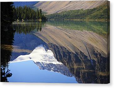 Canvas Print featuring the photograph Mirror Lake Banff National Park Canada by Mary Lee Dereske