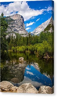 Mirror Lake Canvas Print by Chuck De La Rosa
