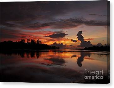 Canvas Print featuring the photograph Mirror Of Nature by Gary Bridger