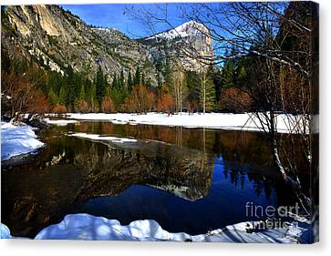 Mirror On The Lake Canvas Print by Peter Dang