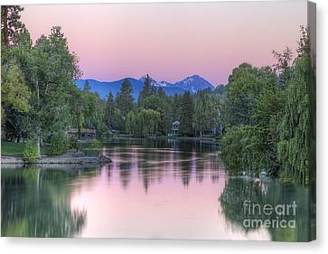 Mirror Pond Canvas Print by Twenty Two North Photography