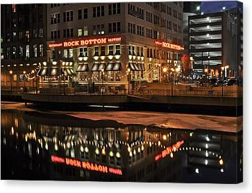 Canvas Print featuring the photograph Mirror Reflection by Deborah Klubertanz